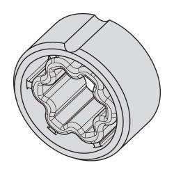 Becker Adapter für Rundrohr 38x1 / 40x2 ; für Becker Rohrmotoren Baureihe P (Mini)