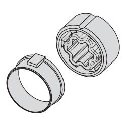 Becker Adapter für Rundrohr 40x1 / 42x2 ; für Becker Rohrmotoren Baureihe P (Mini)