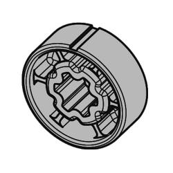 Becker Adapter 50x1,5 für Rundrohr Ø 50 mm ; für Becker Rohrmotoren Baureihe R