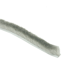 enobi Bürstendichtung 4,8 x 12 mm, grau, Bürstenkeder, Rollladendichtung