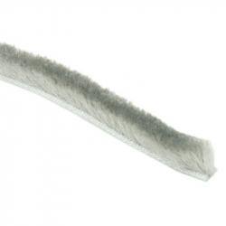 enobi Bürstendichtung 6,7 x 6 mm selbstklebend, grau, Bürstenkeder, Rollladendichtung