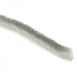 enobi Bürstendichtung 6,7 x 8 mm selbstklebend, grau, Bürstenkeder, Rollladendichtung