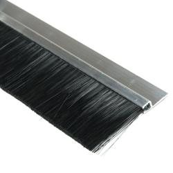 enobi Streifenbürste Typ SV5 50mm mit Alu-Profil, 100cm Länge, Bürstendichtung, Türbürste