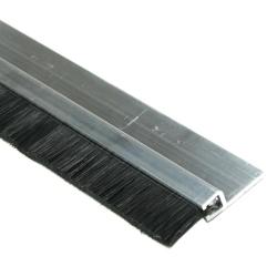 enobi Streifenbürste Typ SV5 10mm mit Alu-Profil, 100cm Länge, Bürstendichtung, Türbürste