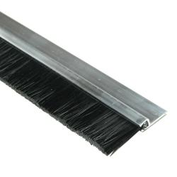 enobi Streifenbürste Typ SV5 20mm mit Alu-Profil, 100cm Länge, Bürstendichtung, Türbürste