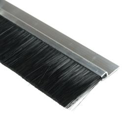 enobi Streifenbürste Typ SV5 40mm mit Alu-Profil, 100cm Länge, Bürstendichtung, Türbürste