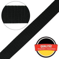 Stahl Gurtband E 410/85 aus Polypropylen (PP), Breite 25 mm, Meterware, Farbe schwarz