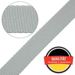 Stahl Gurtband E 410/85 aus Polypropylen (PP), Breite 25 mm, Meterware, Farbe grau