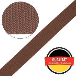 Stahl Gurtband E 410/85 aus Polypropylen (PP), Breite 25 mm, Meterware, Farbe braun