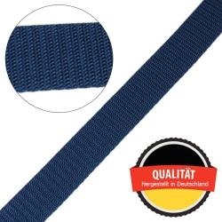 Stahl Gurtband E 410/85 aus Polypropylen (PP), Breite 25 mm, Meterware, Farbe dunkelblau