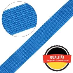 Stahl Gurtband E 410/85 aus Polypropylen (PP), Breite 25 mm, Meterware, Farbe hellblau
