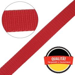 Stahl Gurtband E 410/85 aus Polypropylen (PP), Breite 25 mm, Meterware, Farbe rot