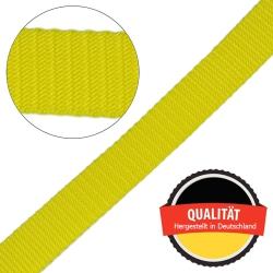 Stahl Gurtband E 410/85 aus Polypropylen (PP), Breite 25 mm, Meterware, Farbe gelb