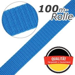 Stahl Gurtband E 410/85 aus Polypropylen (PP), Breite 30 mm, Meterware, Farbe hellblau