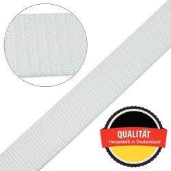 Stahl Gurtband E 410/85 aus Polypropylen (PP), Breite 30 mm, Meterware, Farbe rohweiß