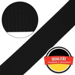 Stahl Gurtband E 410/85 aus Polypropylen (PP), Breite 50 mm, Meterware, Farbe schwarz