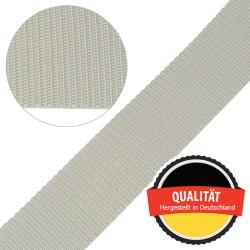 Stahl Gurtband E 410/85 aus Polypropylen (PP), Breite 50 mm, Meterware, Farbe grau