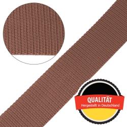 Stahl Gurtband E 410/85 aus Polypropylen (PP), Breite 50 mm, Meterware, Farbe braun