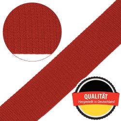 Stahl Gurtband E 410/85 aus Polypropylen (PP), Breite 50 mm, Meterware, Farbe rot