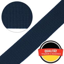 Stahl Gurtband E 410/85 aus Polypropylen (PP), Breite 50 mm, Meterware, Farbe dunkelblau