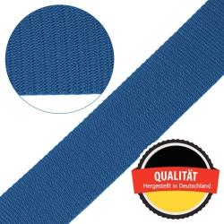 Stahl Gurtband E 410/85 aus Polypropylen (PP), Breite 50 mm, Meterware, Farbe hellblau