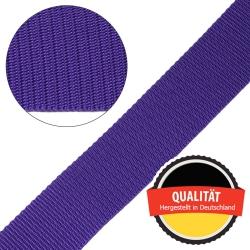 Stahl Gurtband E 410/85 aus Polypropylen (PP), Breite 50 mm, Meterware, Farbe lila