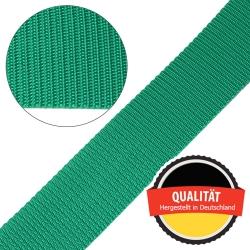 Stahl Gurtband E 410/85 aus Polypropylen (PP), Breite 50 mm, Meterware, Farbe grün