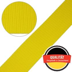 Stahl Gurtband E 410/85 aus Polypropylen (PP), Breite 50 mm, Meterware, Farbe gelb