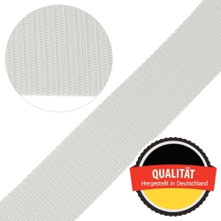 Stahl Gurtband E 410/85 aus Polypropylen (PP), Breite 50 mm, Meterware, Farbe rohweiß