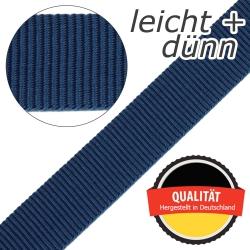 Stahl Leichtes und dünnes Gurtband PP 94 aus Polypropylen (PP), Einfassband, Breite 25 mm, Meterware, Farbe dunkelblau