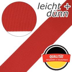 Stahl Leichtes und dünnes Gurtband E 401/01/50 aus Polypropylen (PP), Einfassband, Breite 50 mm, Meterware, Farbe rot