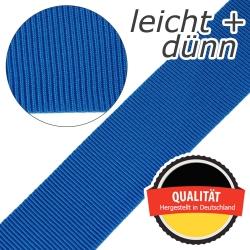 Stahl Leichtes und dünnes Gurtband E 401/01/50 aus Polypropylen (PP), Einfassband, Breite 50 mm, Meterware, Farbe hellblau