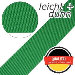Stahl Leichtes und dünnes Gurtband E 401/01/50 aus Polypropylen (PP), Einfassband, Breite 50 mm, Meterware, Farbe grasgrün