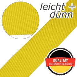 Stahl Leichtes und dünnes Gurtband E 401/01/50 aus Polypropylen (PP), Einfassband, Breite 50 mm, Meterware, Farbe gelb