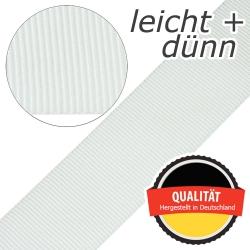 Stahl Leichtes und dünnes Gurtband E 401/01/50 aus Polypropylen (PP), Einfassband, Breite 50 mm, Meterware, Farbe rohweiß