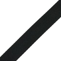 Stahl Gurtband PE 144/25 aus Polyester, Breite 25 mm, Meterware, Farbe spinnschwarz