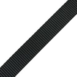 Stahl Dickes Gurtband A 610/402/25 aus Polyester, Breite 25 mm, Meterware, Farbe schwarz