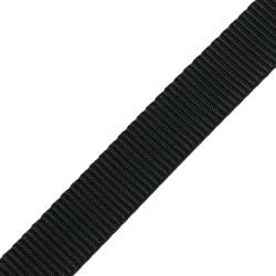 Stahl Gurtband PE 141/24 aus Polyester, Breite 25 mm, Meterware, Farbe spinnschwarz