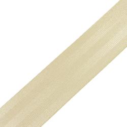 Stahl Sicherheitsgurtband 410 SD aus Polyester, Autogurt, Breite ca. 47 mm, Meterware, Farbe beige