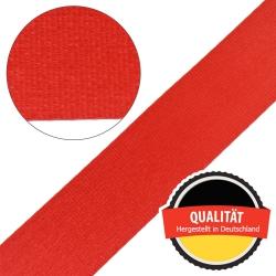 Stahl Sicherheitsgurtband 410 SD aus Polyester, Autogurt, Breite ca. 47 mm, Meterware, Farbe rot