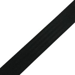 Stahl Sicherheitsgurtband 550 S/35 aus Polyester, Breite ca. 35 mm, Meterware, Farbe schwarz