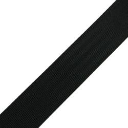 Stahl Sicherheitsgurtband 558 T/40 aus Polyester, Breite 40 mm, Meterware, Farbe schwarz
