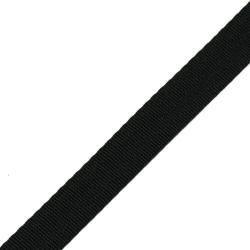 Stahl Sicherheitsgurtband A 402/04/19 aus Polyester, Breite 19 mm, Meterware, Farbe schwarz