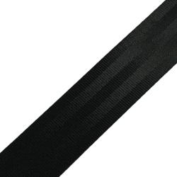 Stahl Sicherheitsgurtband A 602/413/47 (2200daN) aus Polyester, Autogurt, Breite 47 mm, Meterware, Farbe schwarz