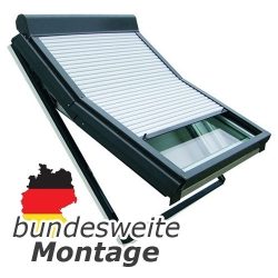 Baier Dachfensterrollladen für Roto-Fenster Typ 6.., 7.., 8.., DA3, MR, SR ; Größe 9/9 (94 x 98 cm)