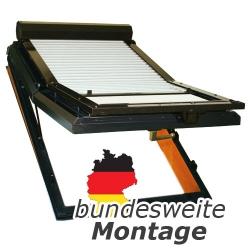 Baier Dachfensterrollladen für Braas / Dörken / Blefa-Fenster Typ BA, BA-O, BK, BL und BSK ; Größe 100/80 (100 x 80 cm)