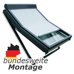 Baier Dachfensterrollladen für Braas / Dörken-Fenster Typ BGS, DS, BGC*, DC*, BGK* und DK*; Größe 134/120 (134 x 120 cm)