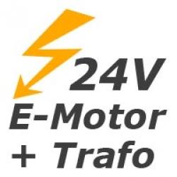 - Motorantrieb 24V inkl. Schalter-Trafo
