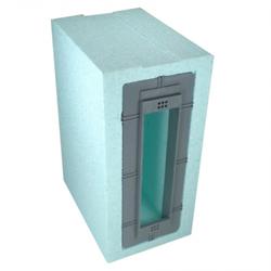 DiHa ESM 175, gedämmter Mauerkasten für Einlass-Gurtwickler, Lochabstand 160 mm, bis 6 m Gurt