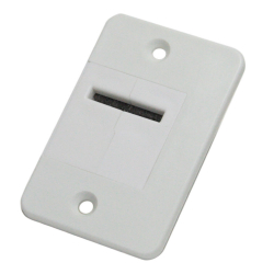 DiHa ESM Verschlussdeckel-Gurtführung gerade o. 90° gedreht, bis 23 mm Gurt, weiß